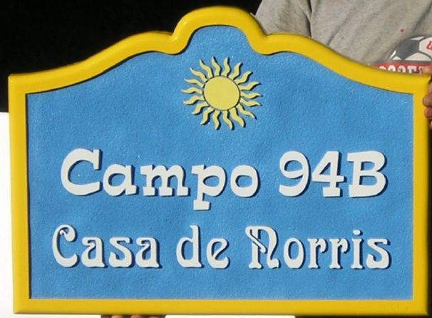L21128 - Address Sign for Campsite with Sun