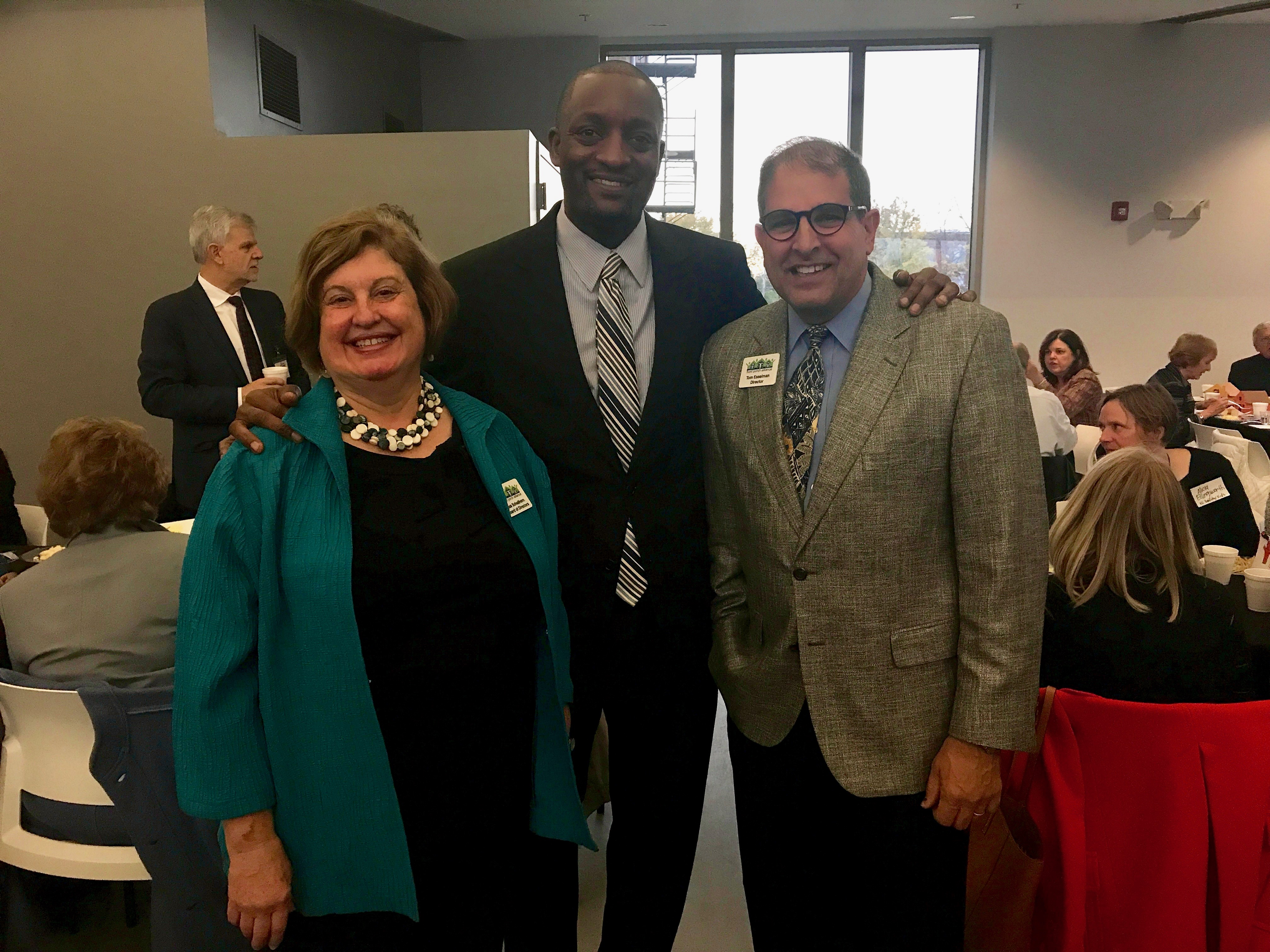 Lisa Schellhorn, board member; Dr. Mark Bedell, Superintendent KCPS; Tom Esselman at the Rise and Shine Breakfast.