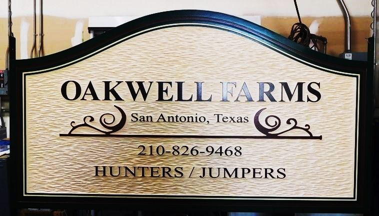 P25025 - HDU Sign for Equine Farm for Hunters and Jumpers