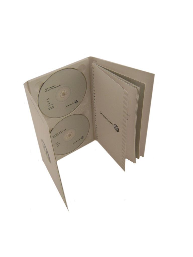 VW Dual DVD case w/ Spiral Bound Book
