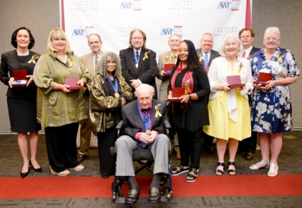 Inaugural class of the Alabama Writers Hall of Fame or their representatives. (Miriam Brant)