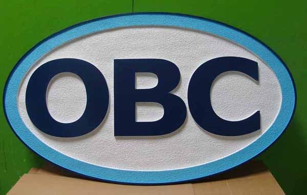"SA28696 - Carved and Sandblasted Large ""OBC"" Sign for Business"