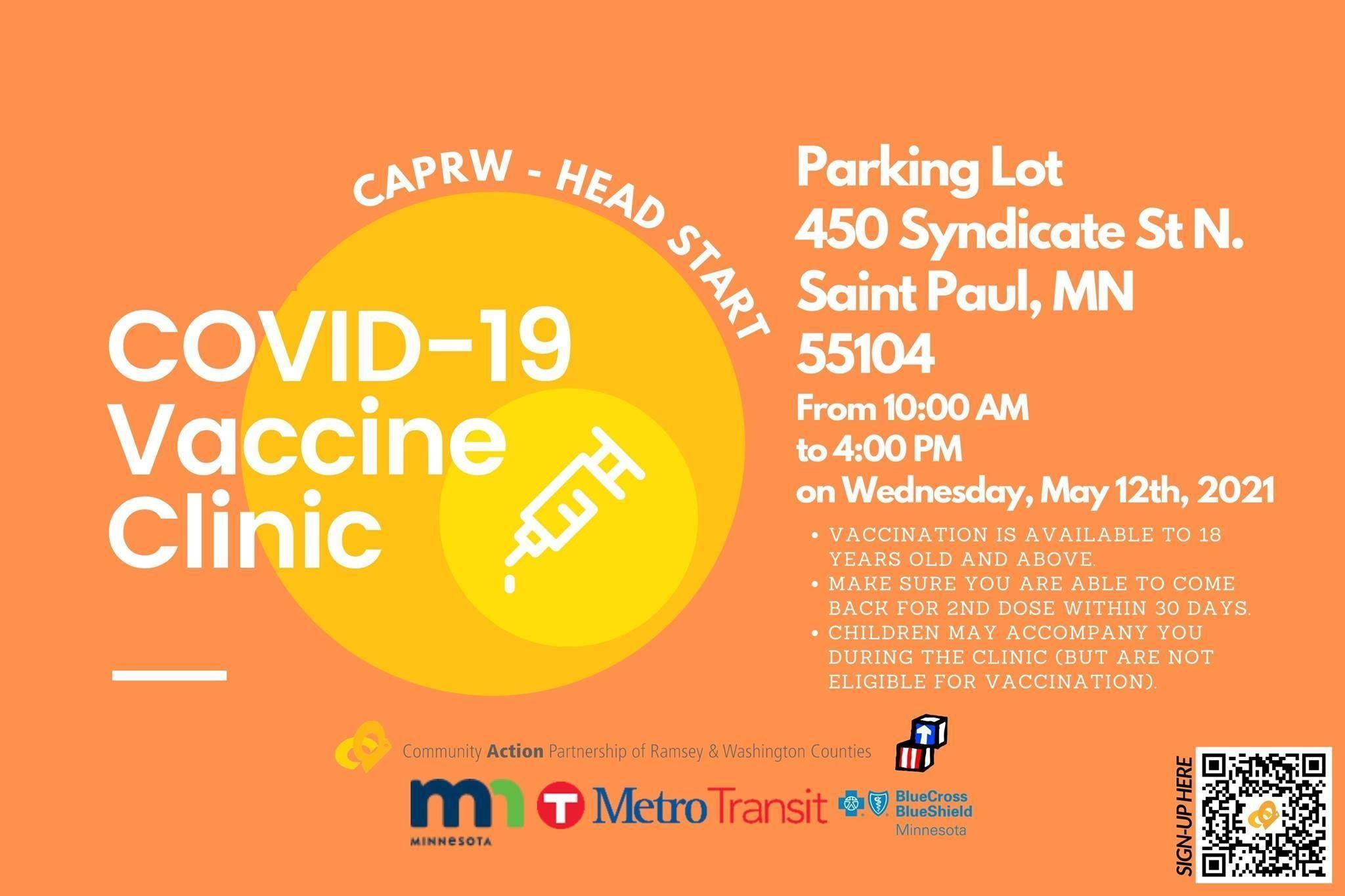 CAPRW Head Start to Host Vaccine Clinic