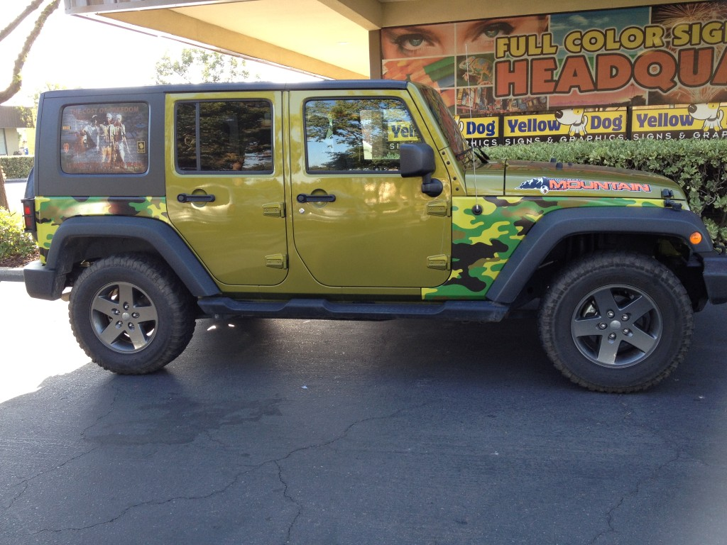Jeep Partial Wrap