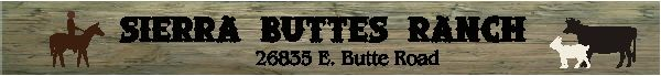 O24965 - Rustic Wood Sign for Sierra Buttes Ranch with Silhouette of Horse with Female Rider, Cow and Goat