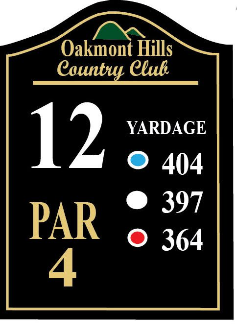 E14401 - Carved Wood Golf Course Tee Signs