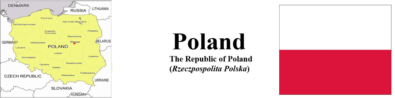 Poland Map & Flag