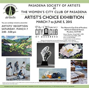 2015 - Artists Choice at Blinn House (Women's City Club)