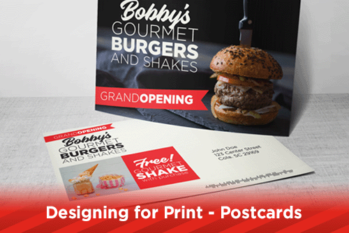 Designing for Print - Postcards