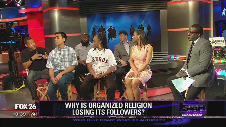 Why is organized religion declining in the U.S.?