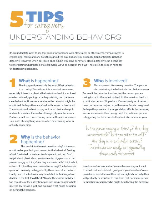 5 Tips for Understanding Behaviors