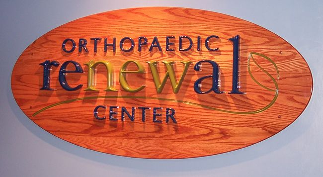 CNC CARVED SIGN, HDU AND OAK