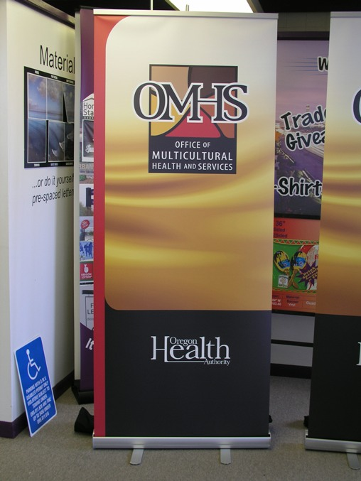 Health and Services Banner Stand
