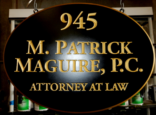 A10024 - Elegant V-Carved  HDU Hanging Sign for an Attorney