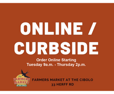 In-Person: Farmers Market (curbside offering has ended)