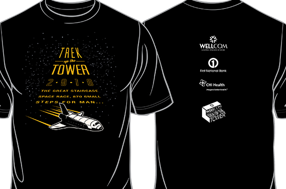 2018 Trek Up the Tower Volunteer Shirt