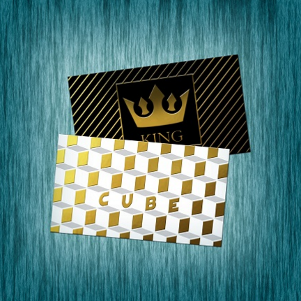 Raised Foil Business Cards (Foil front and back)