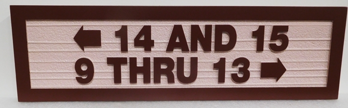 KA20854 - Custom Carved  Directional Unit Number Building Sign