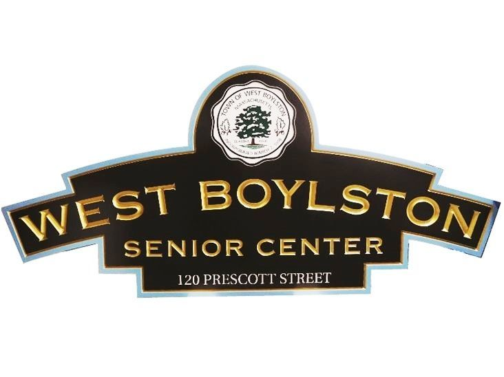 F15553 - Engraved Entrance  Sign  for the West Boylston Senior Center