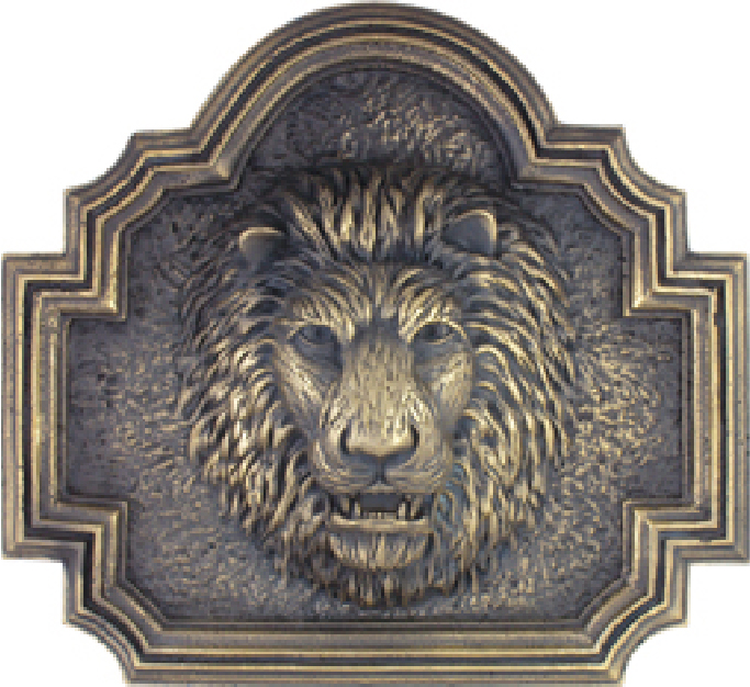 MA1268 - Decorative Lion's Head, 3-D with Patina