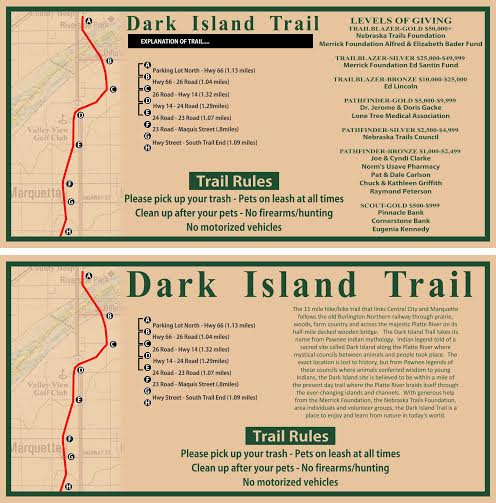 Dark Island Trail Map