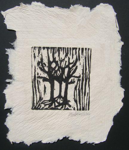 "Woodcut, woodcut, 16"" x 20"""