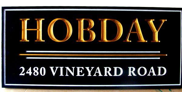 118156 - Elegant Property Address Sign