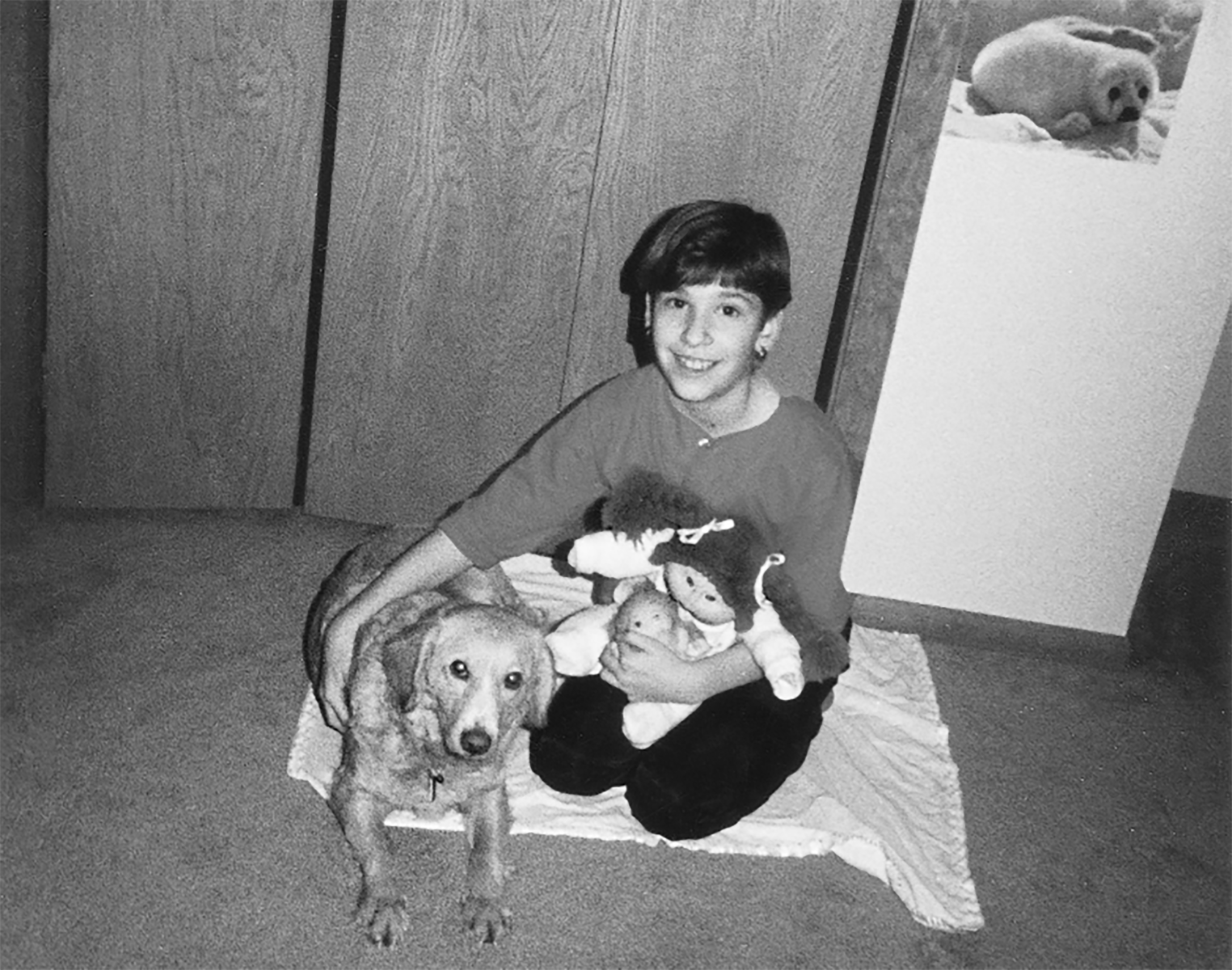 Carrie and dog. (Photo courtesy Carrie Brownstein)