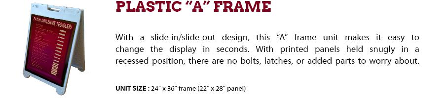 Plastic A Frame Signage