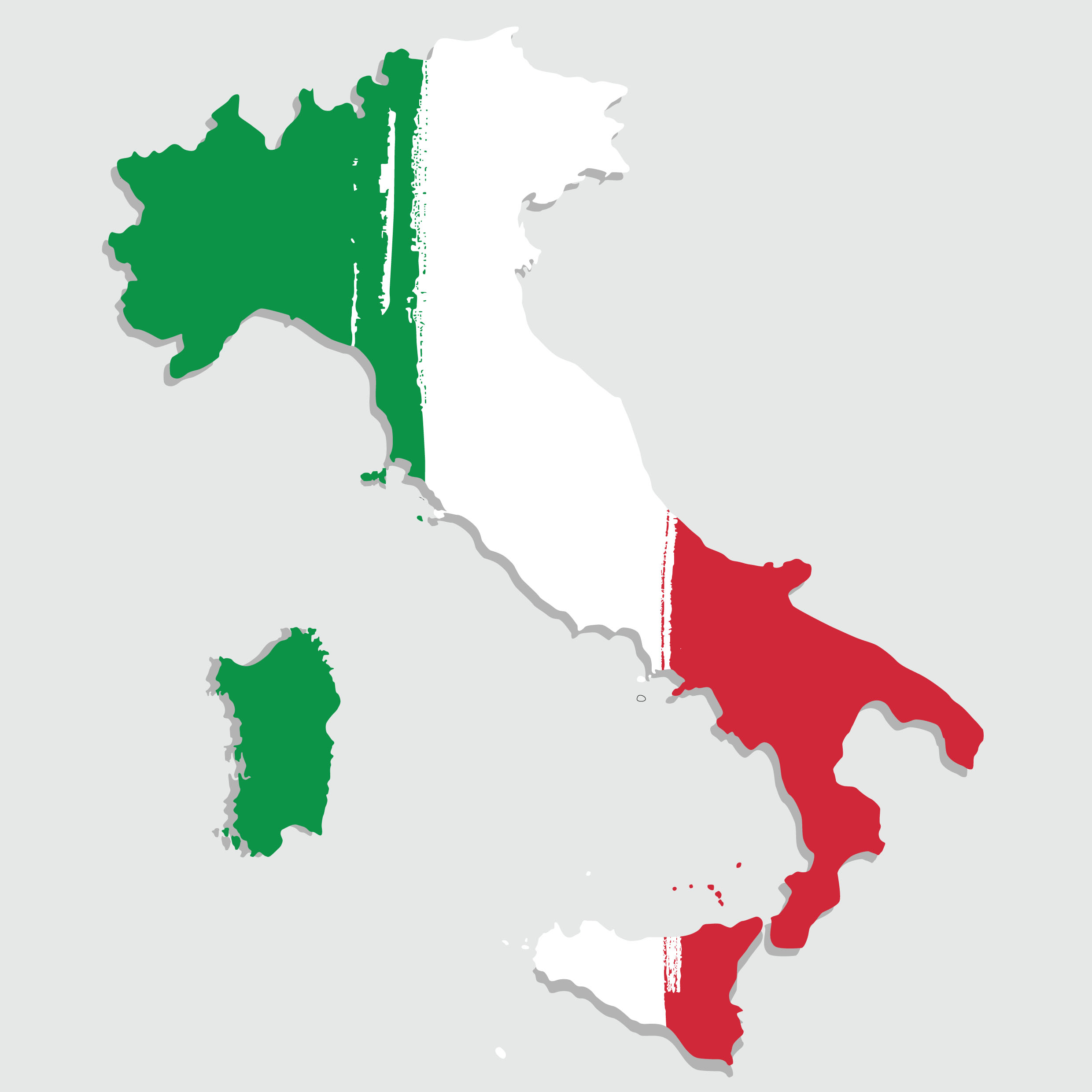 Italian Boot Map Wallpaper, Mural or Cutout
