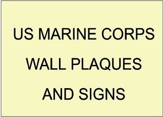 V31400 - US Marine Corps Unit and Award Carved Wood Wall Plaques and Signs