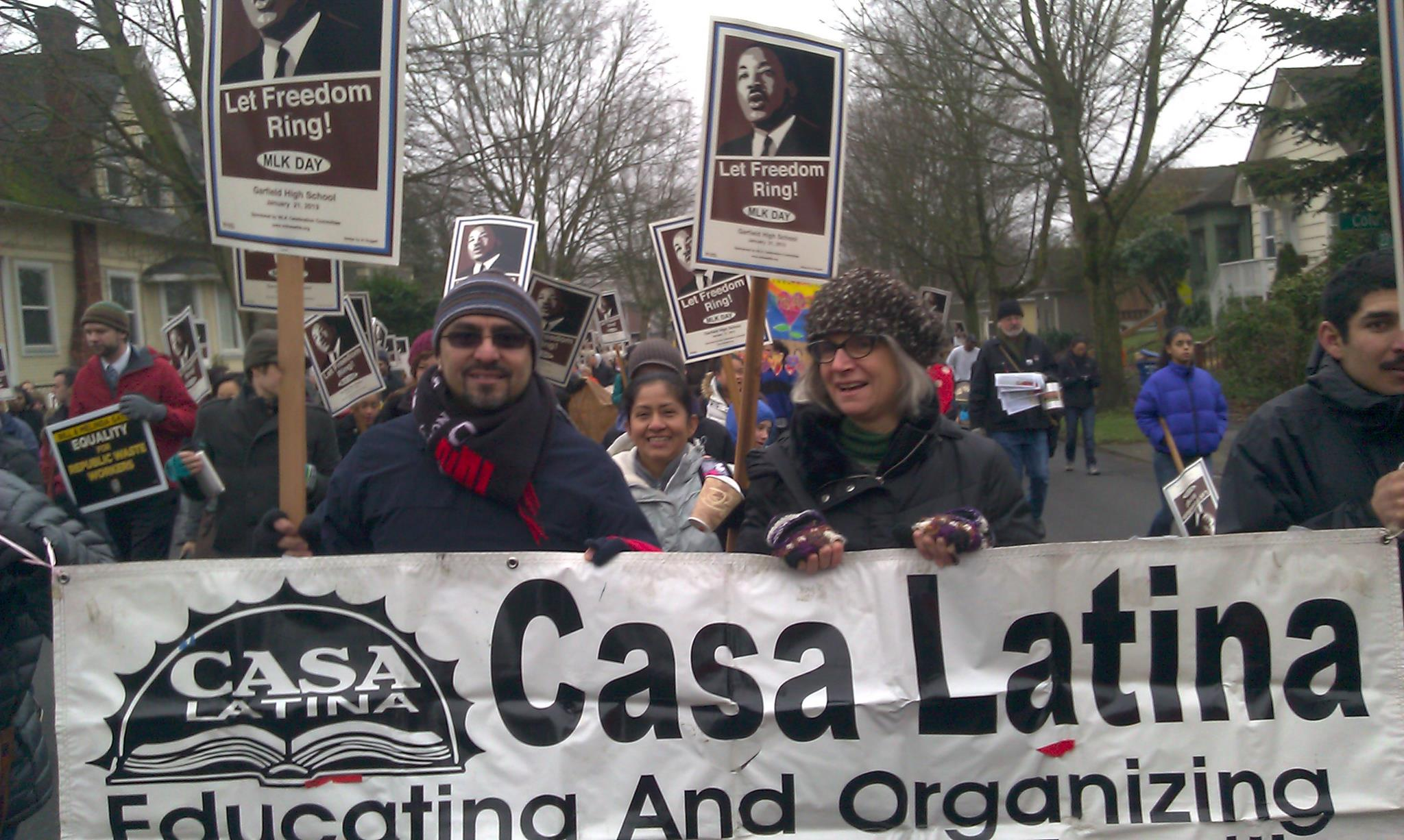 "Martin Luther King March, January 2013, with Francisco ""Paco"" Diaz. (Photo courtesy Francisco Diaz)"
