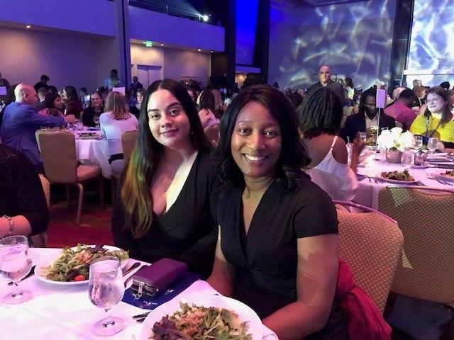 Arieana and her CASA volunteer, Asha Dixon