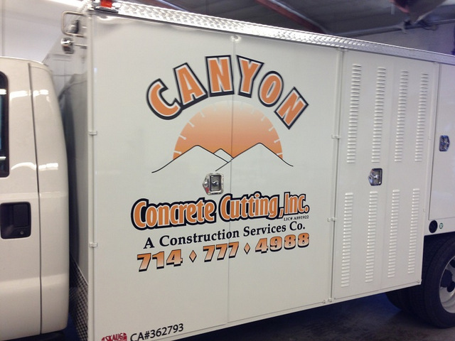 Contractor work truck graphics Buena Park CA