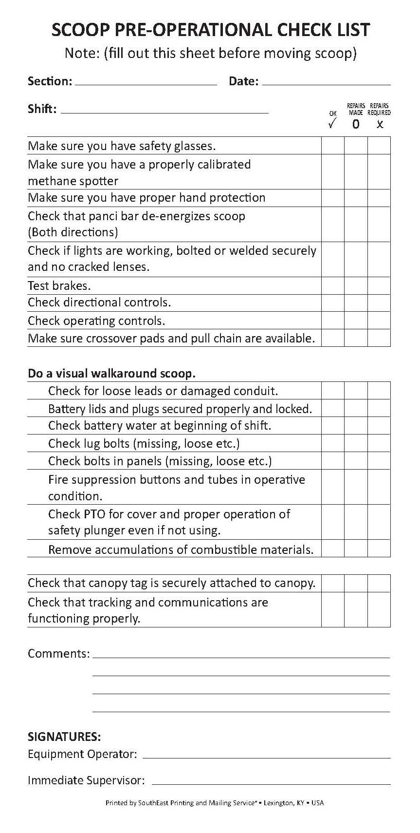 Fire Door Maintenance Checklist