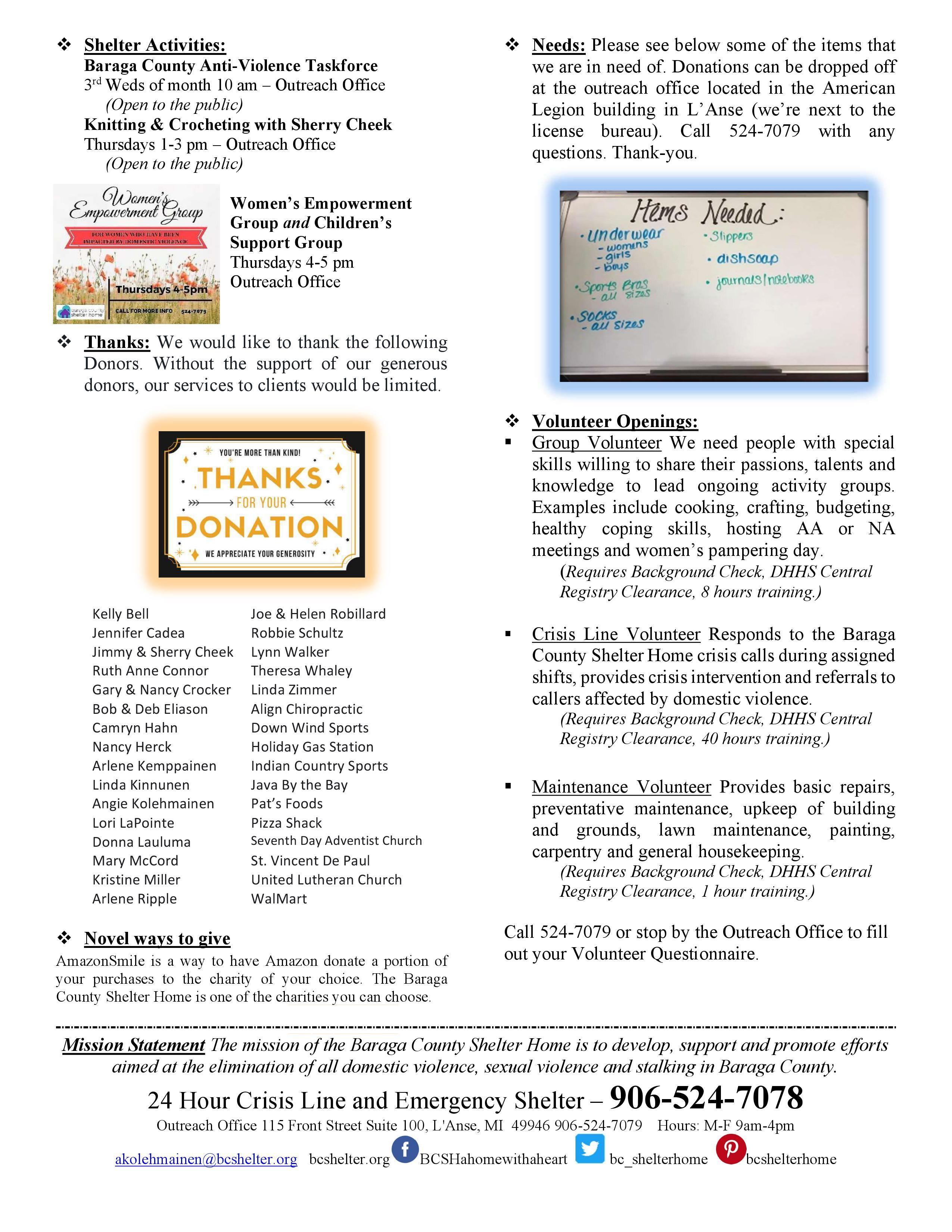 September Newsletter page 2