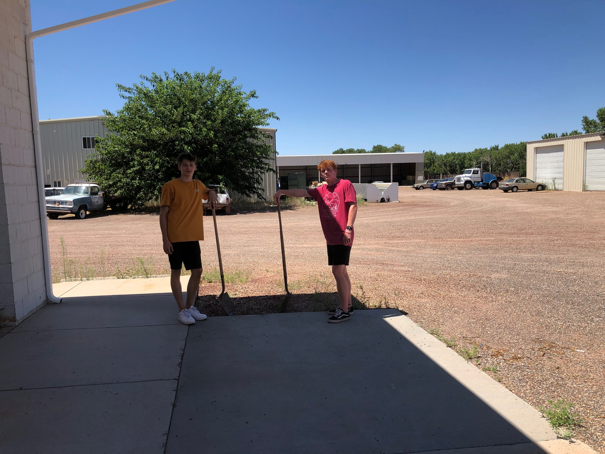 DSU volunteers celebrate a job well done after helping polygamist community of Colorado City