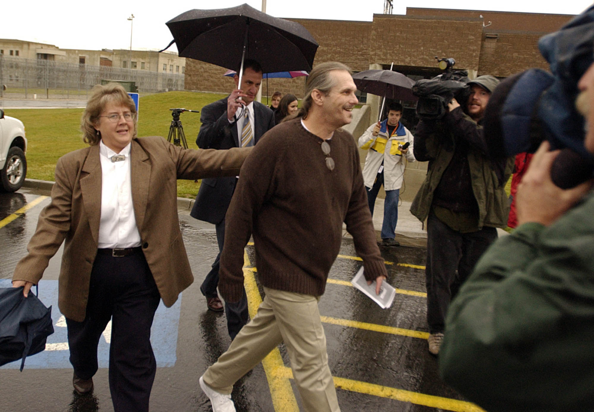 Bruce on the day of his release in 2004.