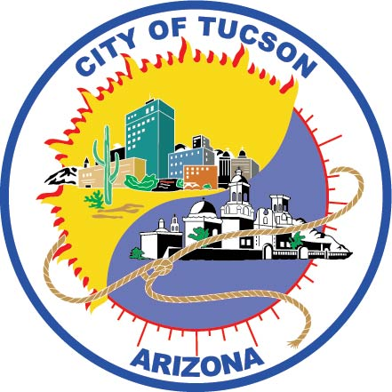 DP-2300 - Carved Plaque of the Seal of the City of Tucson, Arizona, Artist Painted