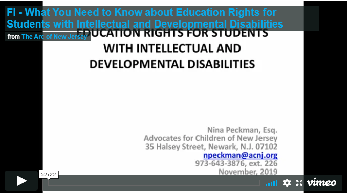 What You Need to Know about Education Rights for Students with Intellectual and Developmental Disabilities