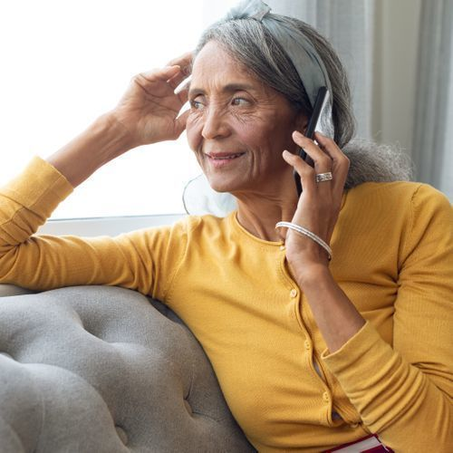 Women on the phone.