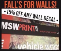 15% OFF Any Wall Decal in September