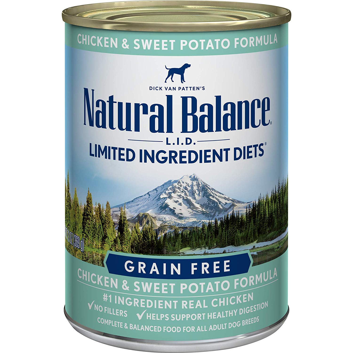 Natural Balance L.I.D. Limited Ingredient Diets Canned Wet Dog Food, Grain Free, Chicken And Sweet Potato Formula