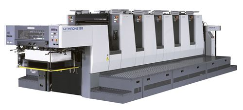 Komori 5-28 with tower coater