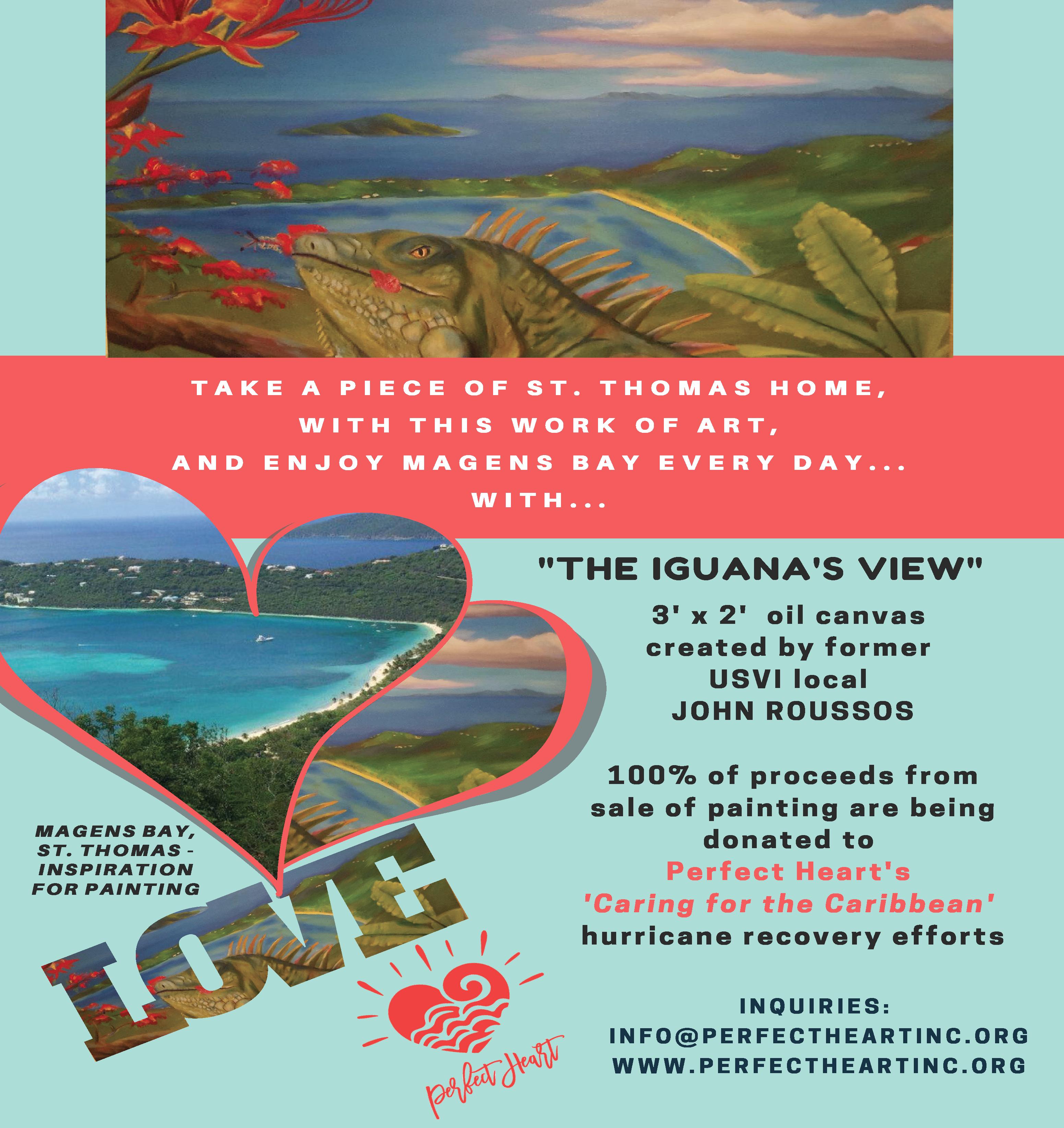 "John Roussos ""Iguana's View"" 3x2 oil painting"