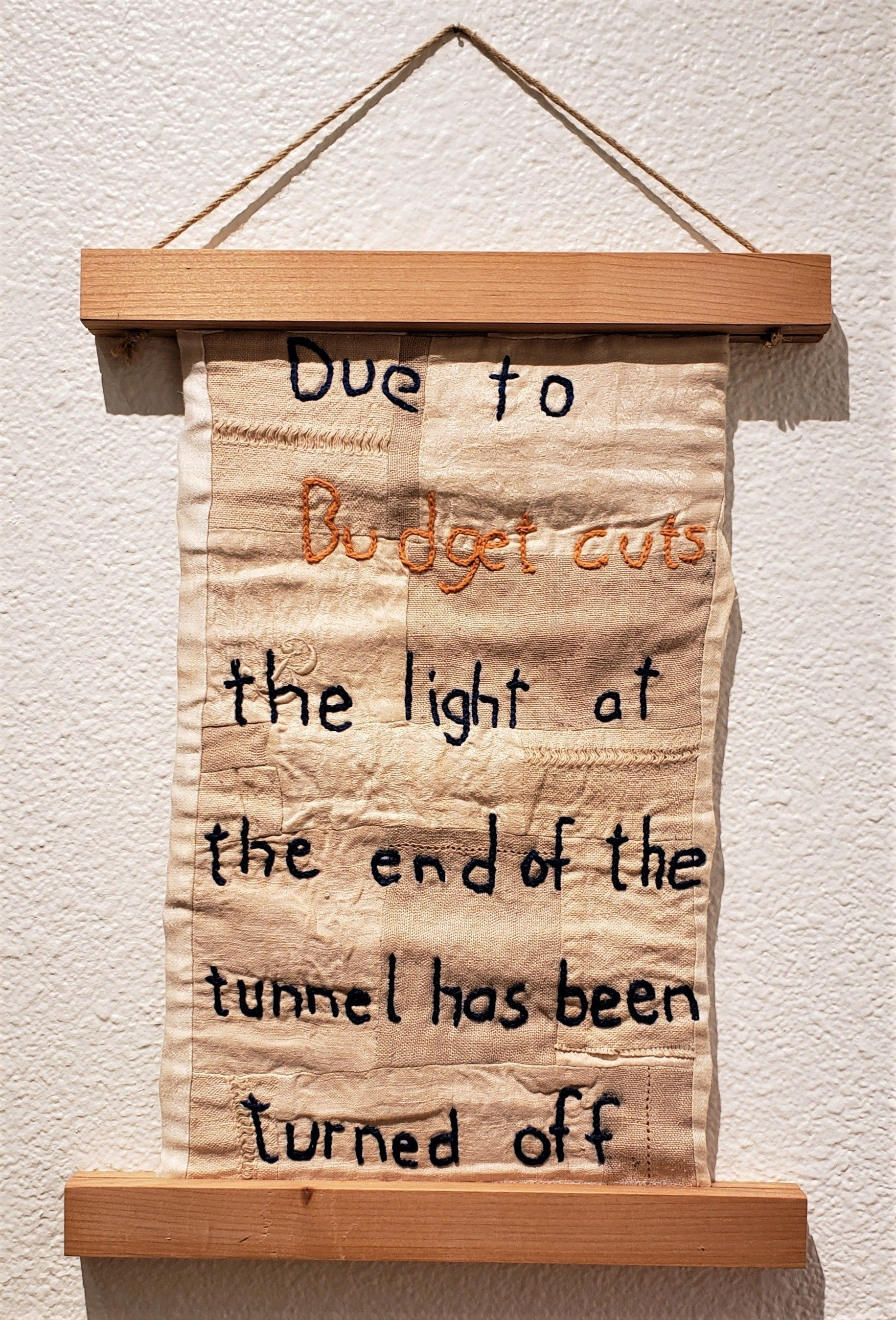 "Ann Carlson - ""Due to Budget Cuts"""