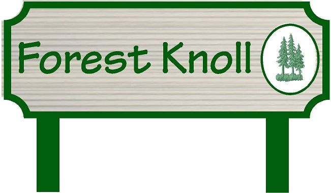 GC16375 - Cemetery Area Identification Sign with Carved Logo