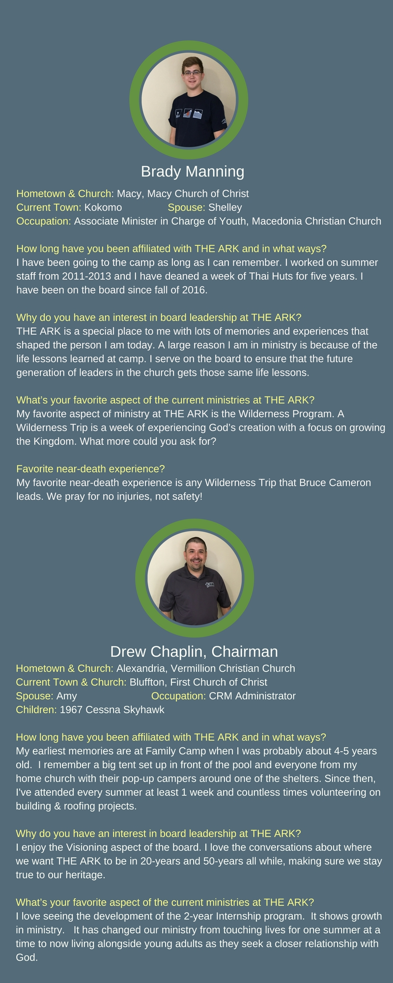 THE ARK Christian Ministries : About Us : Board & Staff
