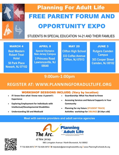 FREE Parent Forum and Opportunity Expo at Clifton High School - Passaic County
