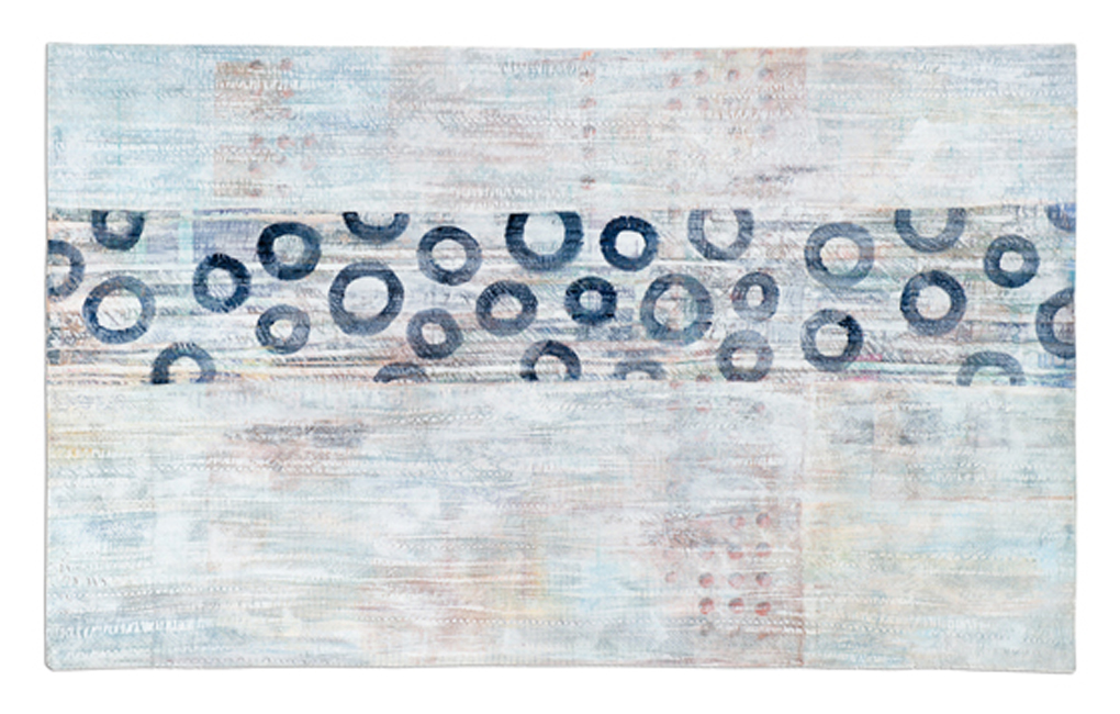 'Façade I,' made by Diedre Adams, made in Colorado, 2006, painted, machine pieced and quilted, 38 x 62""